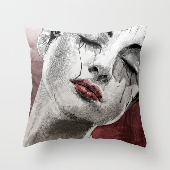 Venom and Tears Throw Pillow