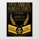 74th annual hunger games poster Canvas Print