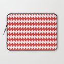 jaggered and staggered in poppy red Laptop Sleeve