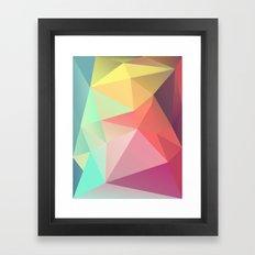 geometric V Framed Art Print