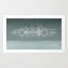 Run a Tight Ship Art Print