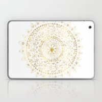 Gold Hand Drawn Mandala Laptop & iPad Skin