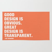Good design is obvious. Great design is transparent. Rug