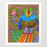 Medussa Luzza Art Print