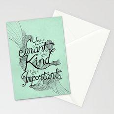 Smart. Kind. Important. Stationery Cards