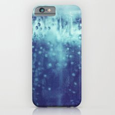 Blue and purple bubble clouds iPhone 6 Slim Case