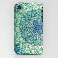 Emerald Doodle iPhone (3g, 3gs) Slim Case