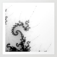 detail on mandelbrot set - pseudopod Art Print