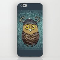Brave Viking Owl iPhone & iPod Skin