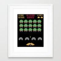 Zebes Invaders Framed Art Print