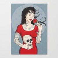 Señora Muerte Canvas Print