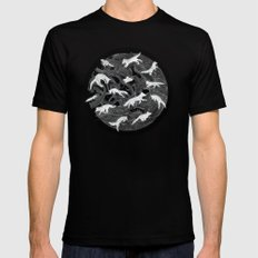GHOSTS  SMALL Black Mens Fitted Tee
