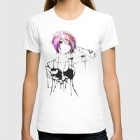 Nuvoil Girl Womens Fitted Tee White SMALL