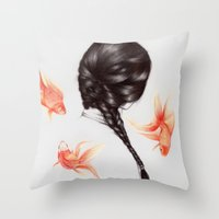 Hair Sequel  Throw Pillow