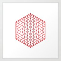 #184 Sphere/cube – Geometry Daily Art Print
