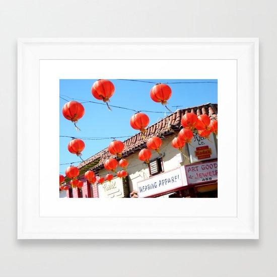 Raise the Red Lantern Framed Art Print
