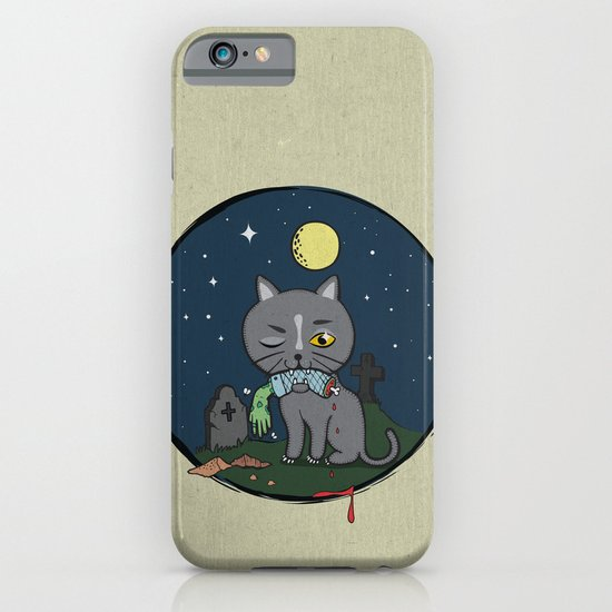 Cats love zombie meat! iPhone & iPod Case