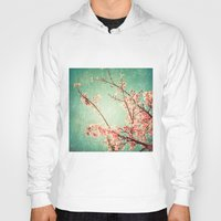 Pink Autumn Leafs On Blu… Hoody