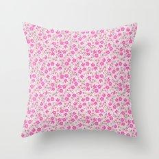 pink floral design Throw Pillow