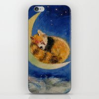 Red Panda Dreams iPhone & iPod Skin