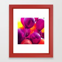 3.2 Hokie Balloons  Framed Art Print