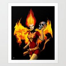 Dark Phoenoix Art Print