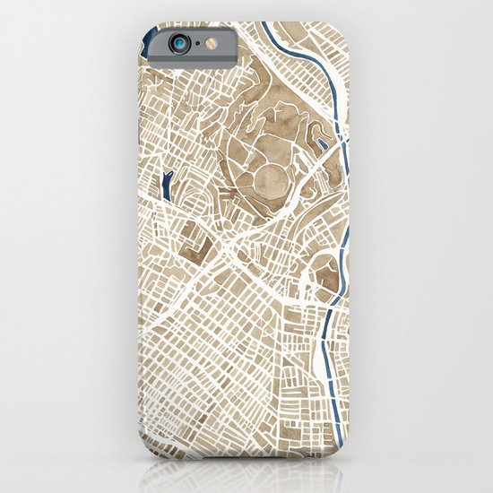 Los Angeles California City Map iPhone & iPod Case