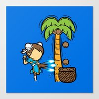 Part Time Job - Coconut Farm Canvas Print