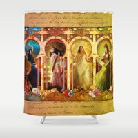 Joy Faith Hope And Love Shower Curtain