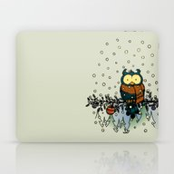 Owl In The Snow V2 Laptop & iPad Skin