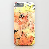 iPhone & iPod Case featuring Watercolor Lion by Krystal Nicole