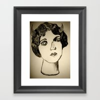 1922 Lila Lee portrait Framed Art Print