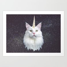 Unicorn Cat Art Print