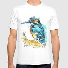 Regal Kingfisher SMALL Mens Fitted Tee White