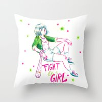 Fight Like A Girl II Throw Pillow