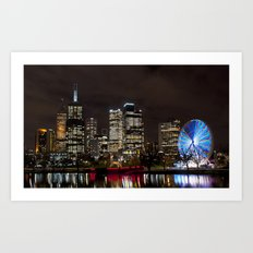 Along  The Yarra River Art Print