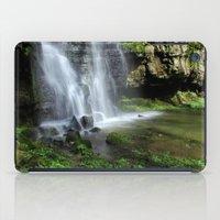 Waterfall At Swallet Fal… iPad Case