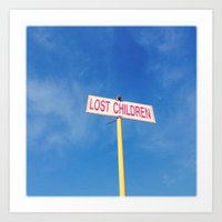 Lost children Art Print