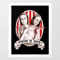 Tattler Twins (edited) Art Print