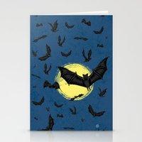 Bat Swarm Stationery Cards