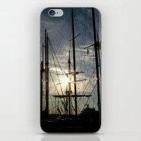 sailboat on the sunrise iPhone & iPod Skin