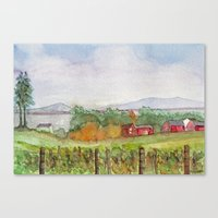 Snow Farm Winery Canvas Print