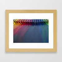 Crayons: Just Melted Framed Art Print