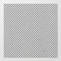 White Diamond Pattern Canvas Print