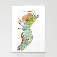 Peacock Mantis Shrimp Stationery Cards