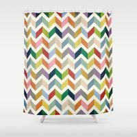 Vintage Chevron - Color Love Shower Curtain