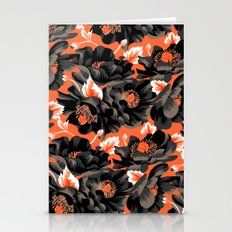 Mount Cook Lily - Orange/Black Stationery Cards