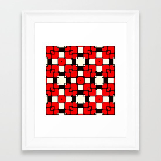 Seventies Mosaic Framed Art Print