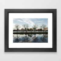 Esplanade Reflection Framed Art Print