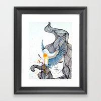 Bird Eye Framed Art Print